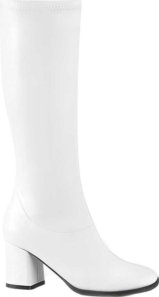 Women's Funtasma Gogo 300-2 Boot, White Stretch Faux Leather, large, image 1