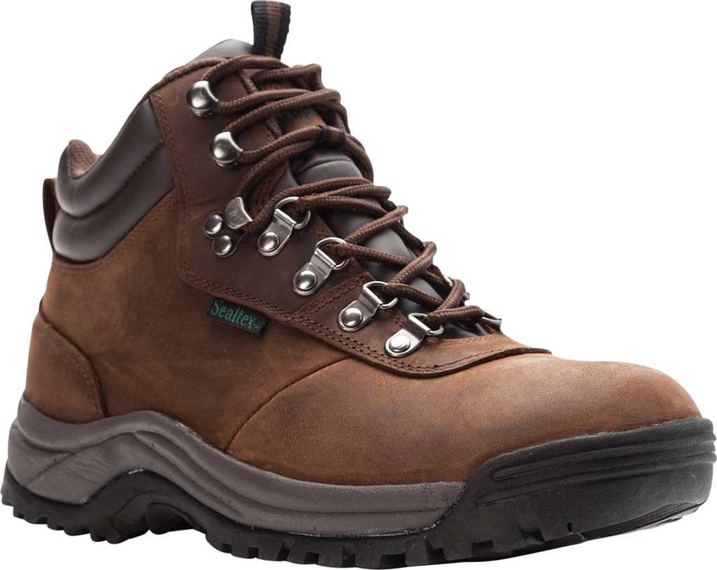 Men's Propet Cliff Walker Boot, Brown Crazy Horse Leather, large, image 1