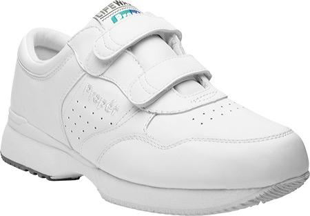 Men's Propet LifeWalker Strap Shoe, White, large, image 1
