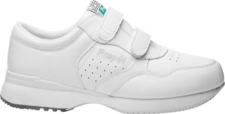 Men's Propet LifeWalker Strap Shoe, White, large, image 2