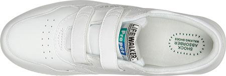 Men's Propet LifeWalker Strap Shoe, White, large, image 6