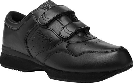 Men's Propet LifeWalker Strap Shoe, Black, large, image 1