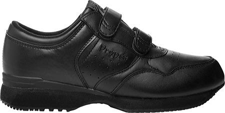 Men's Propet LifeWalker Strap Shoe, Black, large, image 2