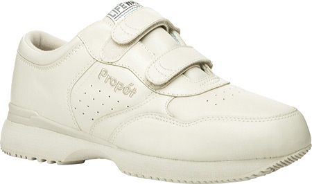 Men's Propet LifeWalker Strap Shoe, Sport White, large, image 1