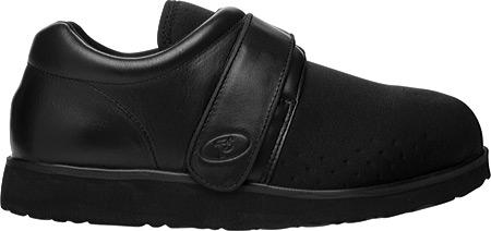 Men's Propet PedWalker 3, Black Smooth Leather/Nylon, large, image 2