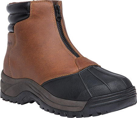 Men's Propet Blizzard Mid Zip Up Boot, Brown/Black Leather, large, image 1