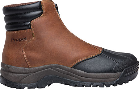 Men's Propet Blizzard Mid Zip Up Boot, Brown/Black Leather, large, image 2