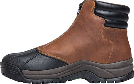 Men's Propet Blizzard Mid Zip Up Boot, Brown/Black Leather, large, image 3