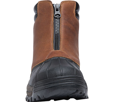 Men's Propet Blizzard Mid Zip Up Boot, Brown/Black Leather, large, image 4