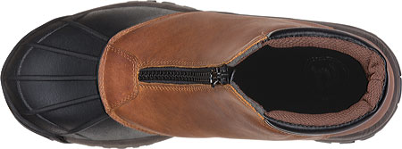 Men's Propet Blizzard Mid Zip Up Boot, Brown/Black Leather, large, image 6