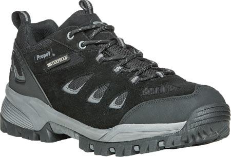 Men's Propet Ridge Walker Low Hiking Shoe, Black Suede/Mesh, large, image 1