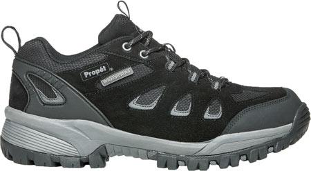 Men's Propet Ridge Walker Low Hiking Shoe, Black Suede/Mesh, large, image 2
