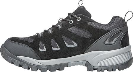 Men's Propet Ridge Walker Low Hiking Shoe, Black Suede/Mesh, large, image 3