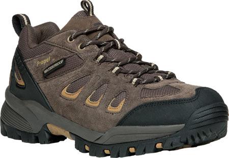 Men's Propet Ridge Walker Low Hiking Shoe, Brown Suede/Mesh, large, image 1