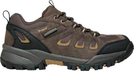 Men's Propet Ridge Walker Low Hiking Shoe, Brown Suede/Mesh, large, image 2