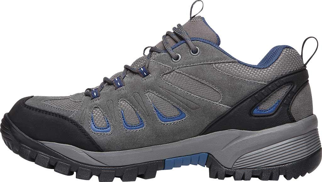 Men's Propet Ridge Walker Low Hiking Shoe, Grey/Blue Suede/Mesh, large, image 3