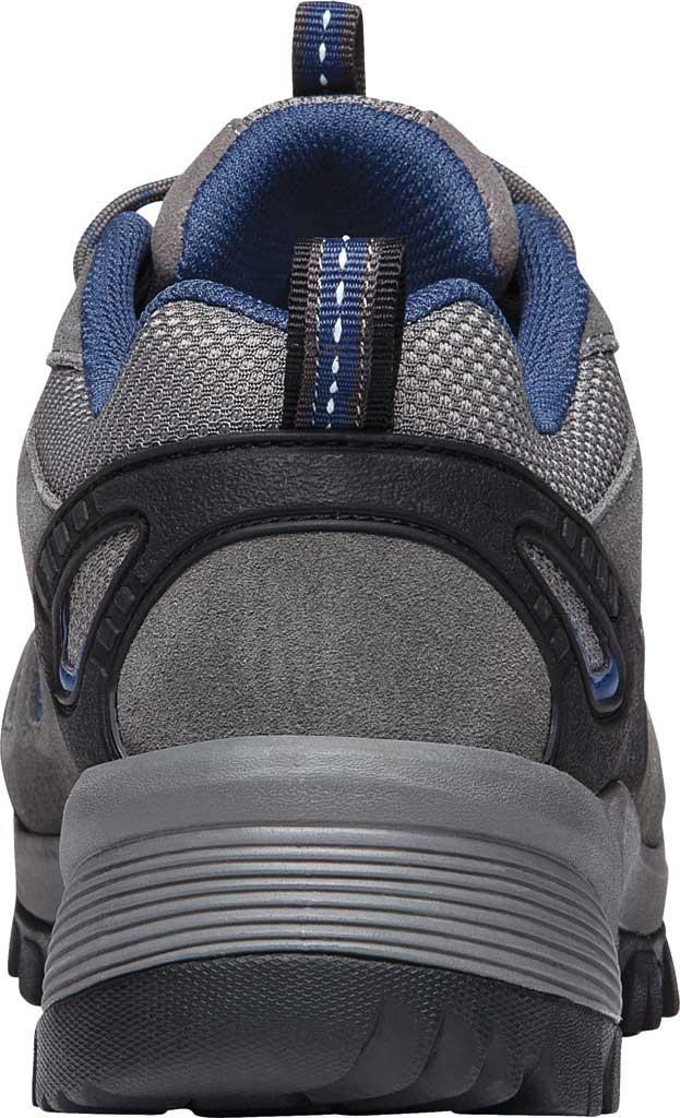 Men's Propet Ridge Walker Low Hiking Shoe, Grey/Blue Suede/Mesh, large, image 4