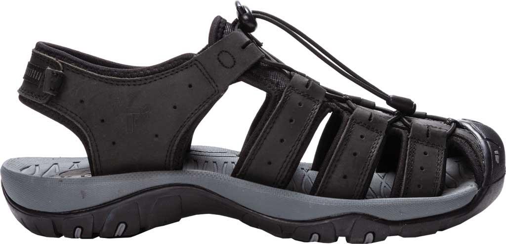 Men's Propet Kona Fisherman Sandal, Black Full Grain Leather, large, image 2