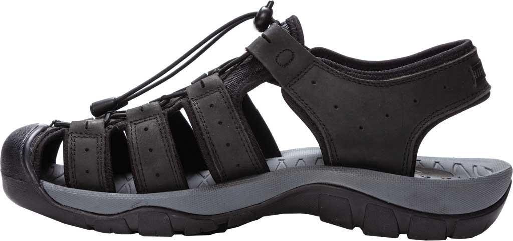 Men's Propet Kona Fisherman Sandal, Black Full Grain Leather, large, image 3