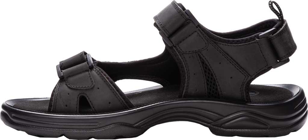 Men's Propet Daytona Adjustable Strap Sandal, Black Waxy Nubuck, large, image 3