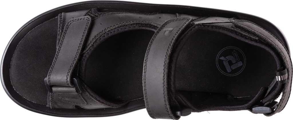 Men's Propet Daytona Adjustable Strap Sandal, Black Waxy Nubuck, large, image 4