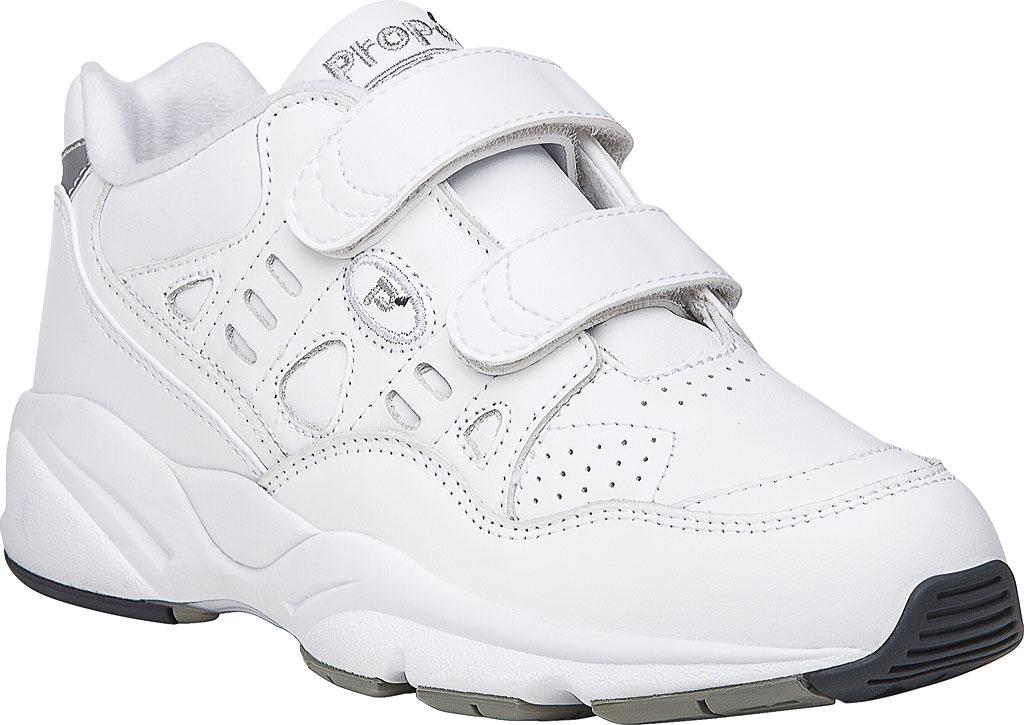 Men's Propet Stability Walker Strap Shoe, White Full Grain Leather, large, image 1