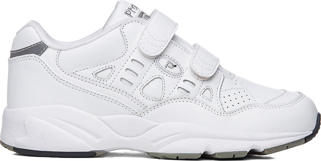 Men's Propet Stability Walker Strap Shoe, White Full Grain Leather, large, image 2