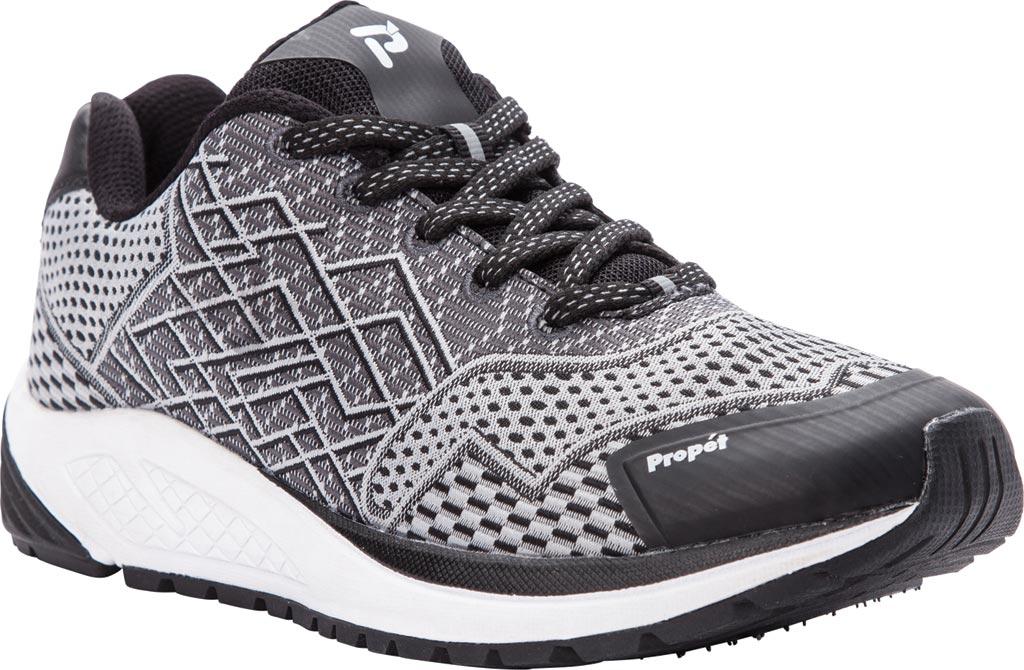 Women's Propet One Sneaker, Black/Silver Mesh, large, image 1