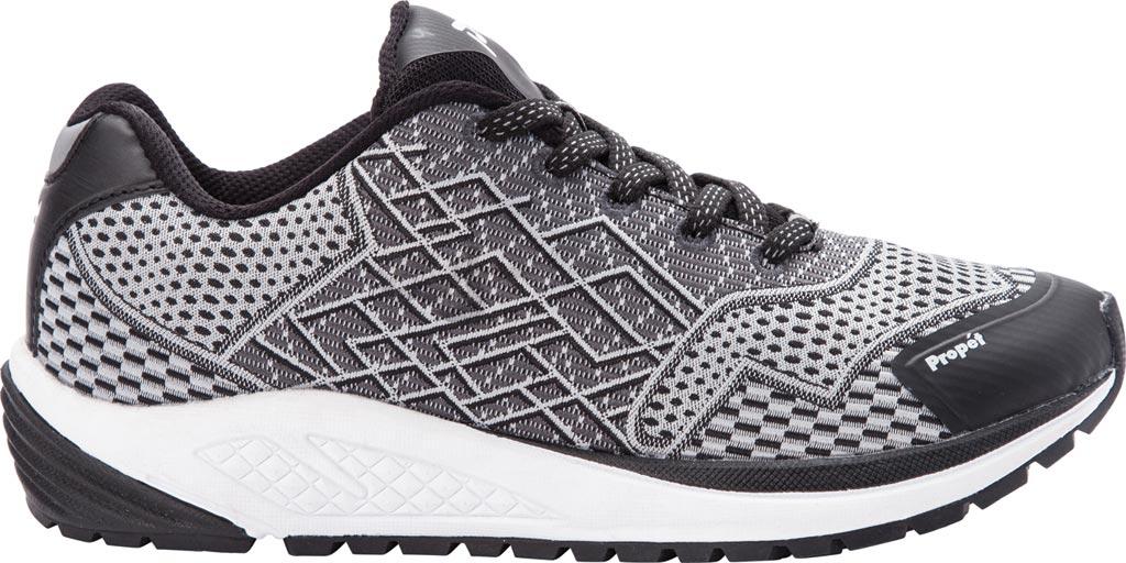Women's Propet One Sneaker, Black/Silver Mesh, large, image 2