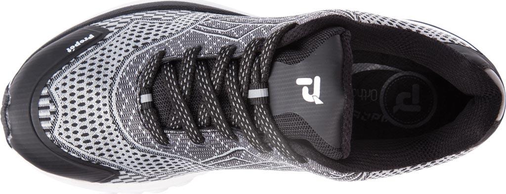 Women's Propet One Sneaker, Black/Silver Mesh, large, image 4