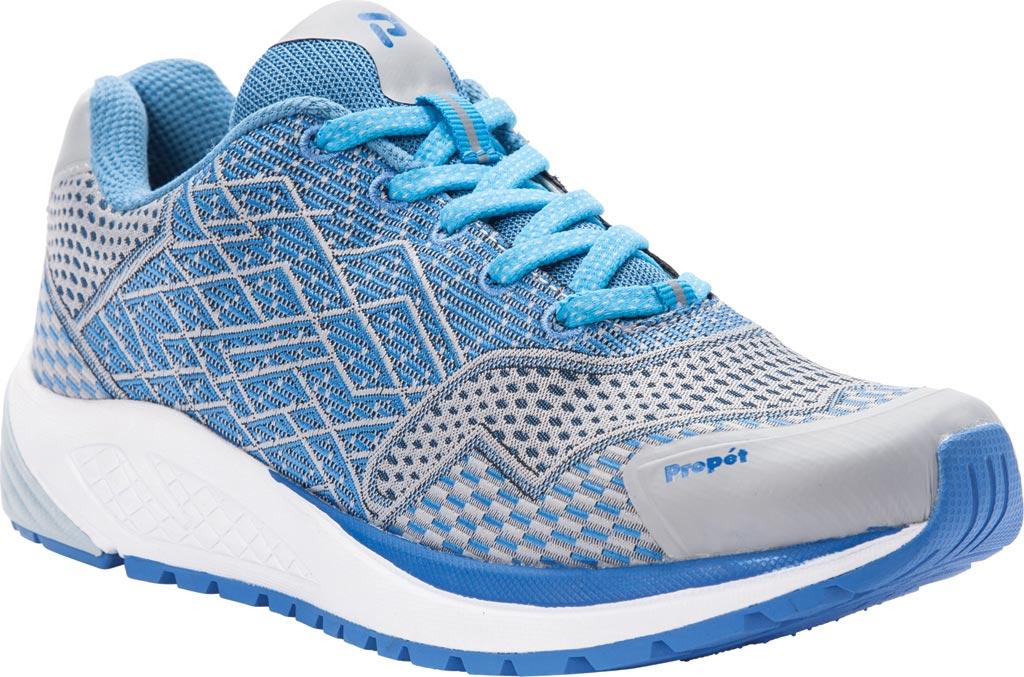 Women's Propet One Sneaker, Blue/Silver Mesh, large, image 1