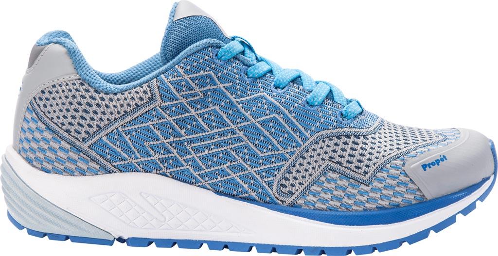 Women's Propet One Sneaker, Blue/Silver Mesh, large, image 2