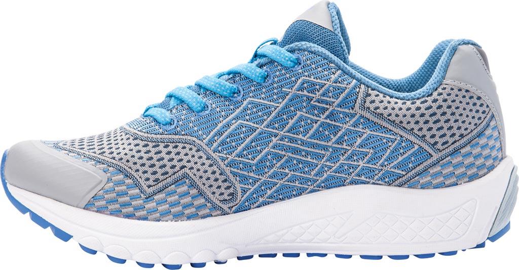 Women's Propet One Sneaker, Blue/Silver Mesh, large, image 3