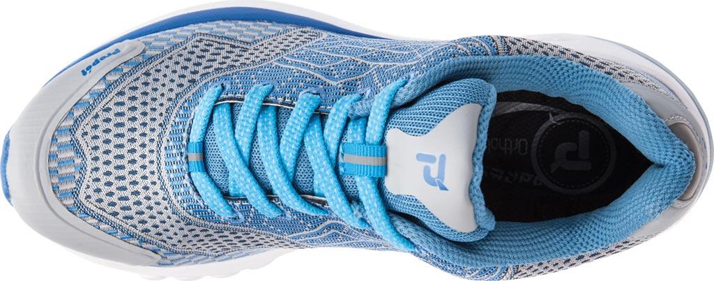 Women's Propet One Sneaker, Blue/Silver Mesh, large, image 4