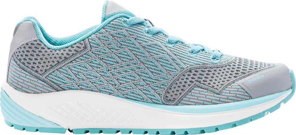 Women's Propet One Sneaker, Grey/Mint Knit Mesh, large, image 2