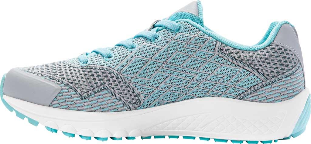 Women's Propet One Sneaker, Grey/Mint Knit Mesh, large, image 3