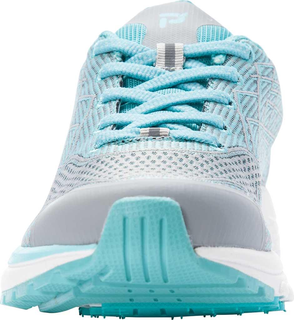Women's Propet One Sneaker, Grey/Mint Knit Mesh, large, image 4