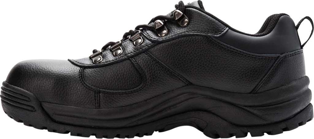 Men's Propet Shield Walker Low Safety Shoe, Black Full Grain Leather, large, image 3