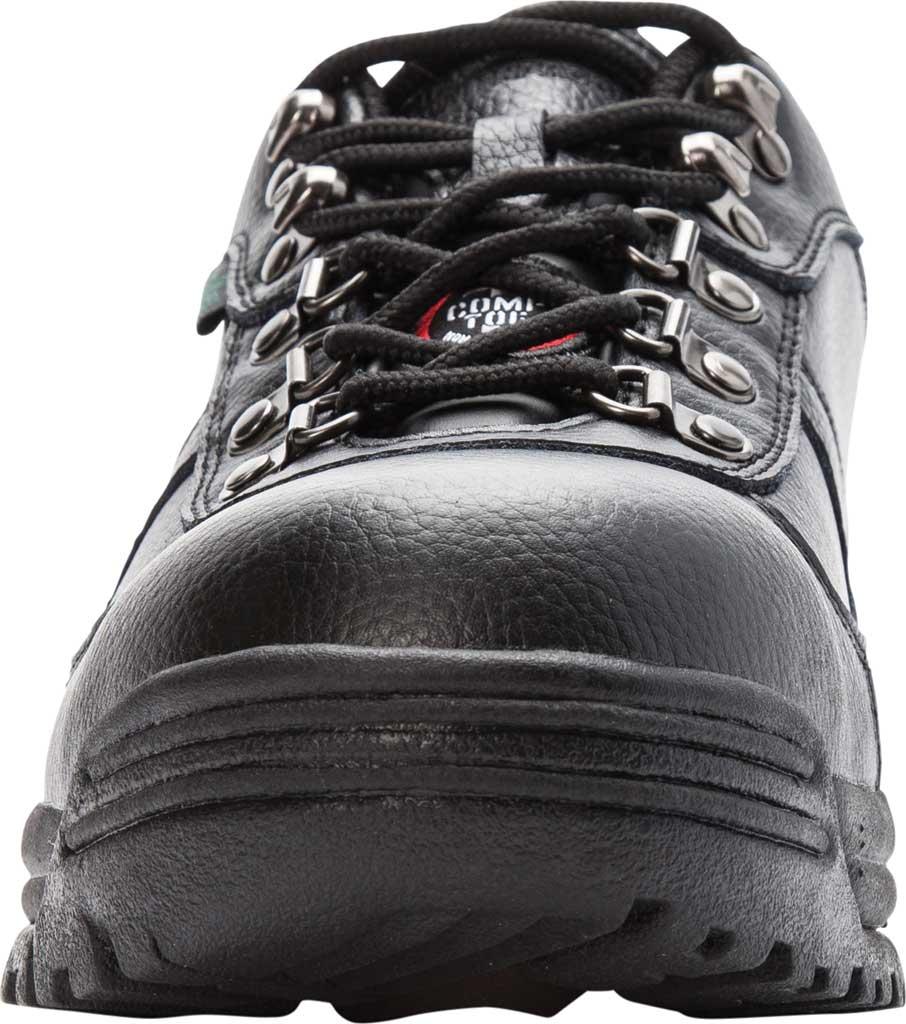 Men's Propet Shield Walker Low Safety Shoe, Black Full Grain Leather, large, image 4