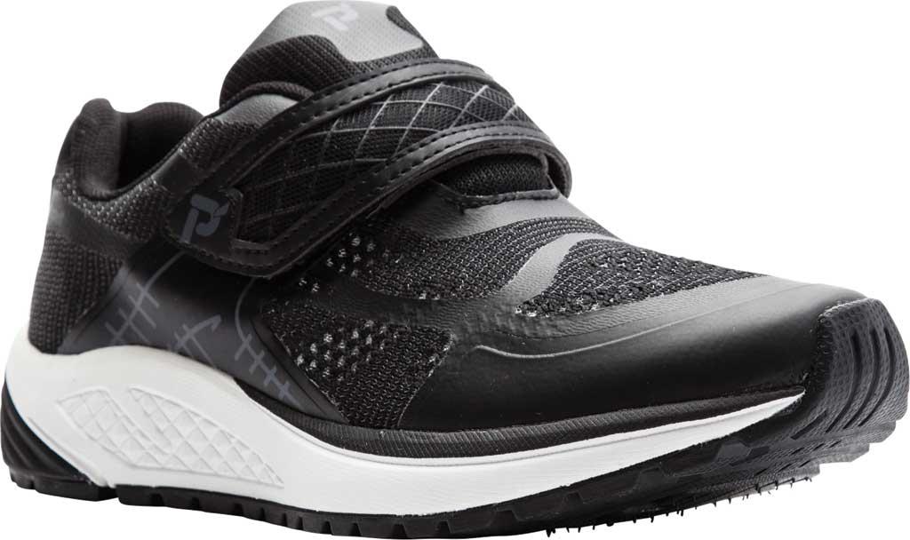 Women's Propet One Strap Sneaker, Black/Grey Mesh, large, image 1