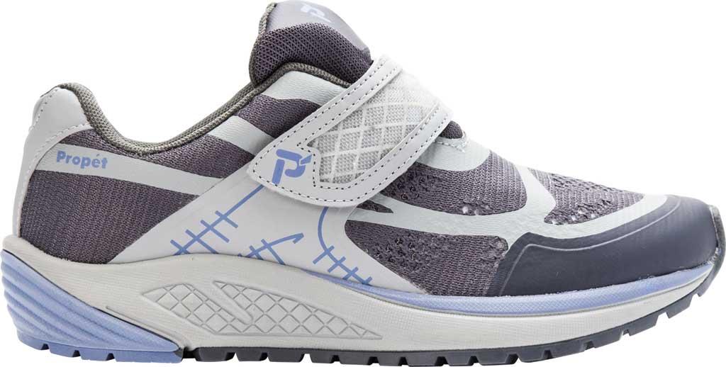 Women's Propet One Strap Sneaker, Lavender/Grey Mesh, large, image 2