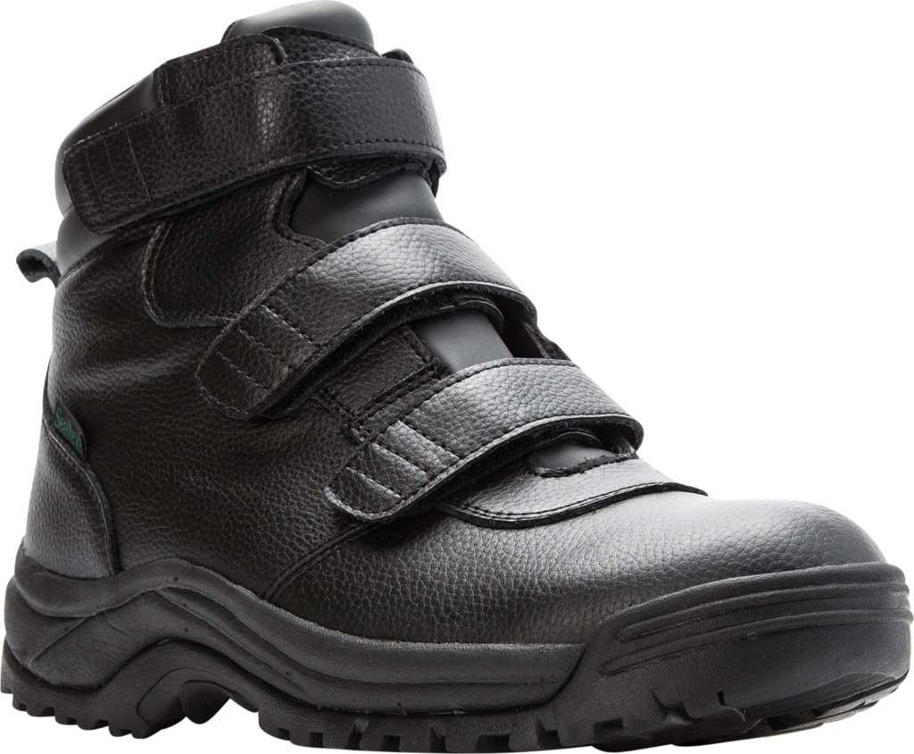 Men's Propet Cliff Walker Tall Strap Boot, Black Full Grain Leather, large, image 1
