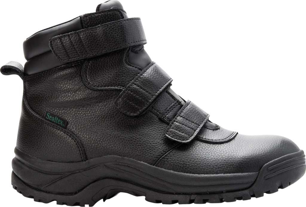 Men's Propet Cliff Walker Tall Strap Boot, Black Full Grain Leather, large, image 2