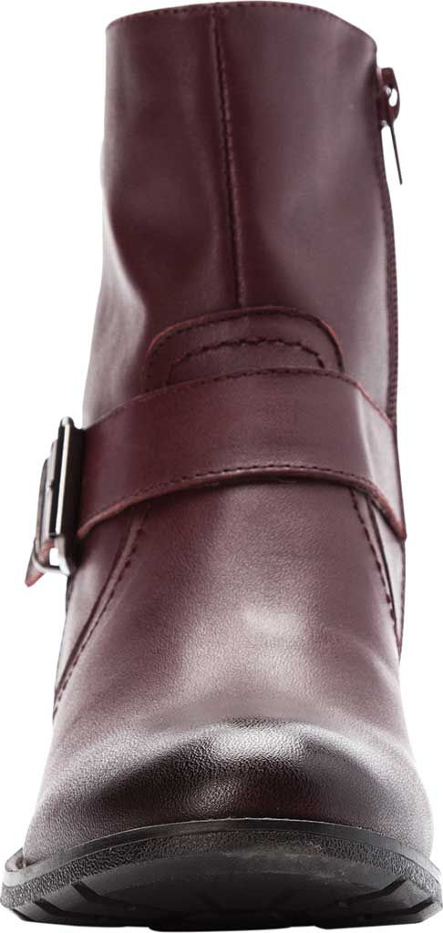 Women's Propet Tory Ankle Bootie, Burgundy Velour Full Grain Leather, large, image 4
