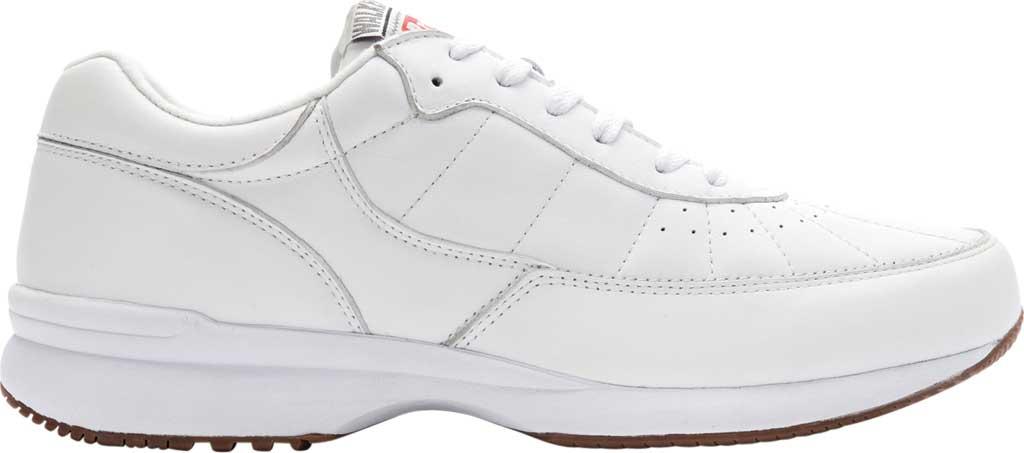 Men's Propet Walker Sneaker, White Leather, large, image 2