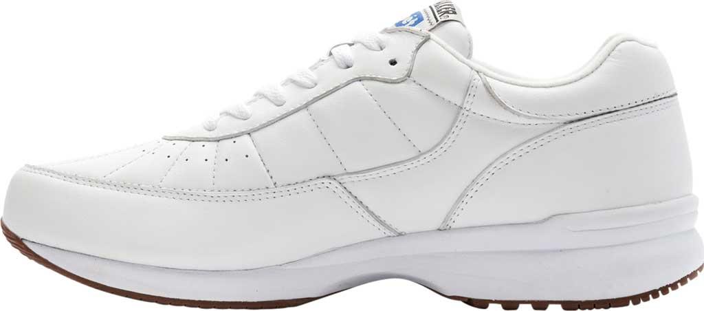 Men's Propet Walker Sneaker, White Leather, large, image 3