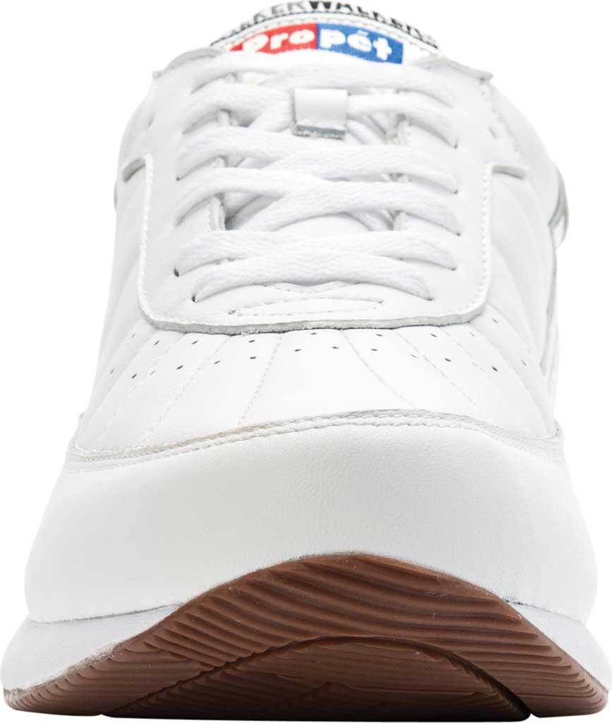 Men's Propet Walker Sneaker, White Leather, large, image 4
