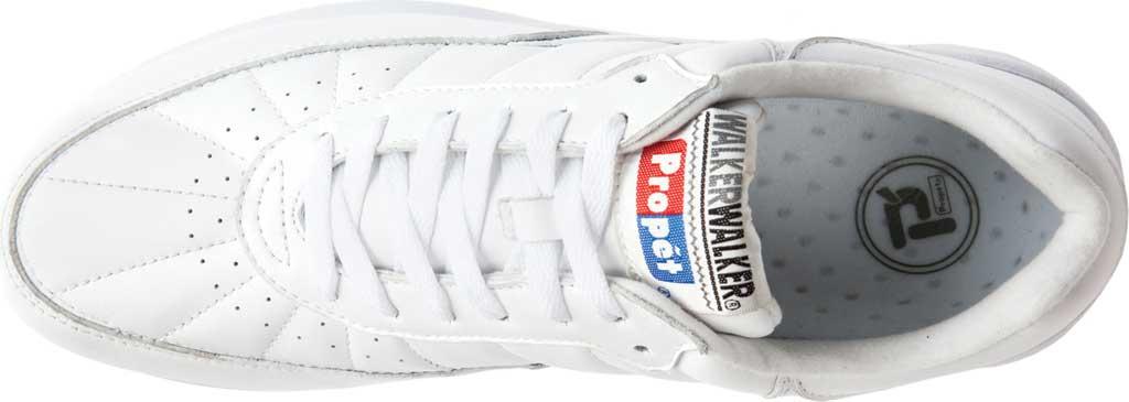 Men's Propet Walker Sneaker, White Leather, large, image 5