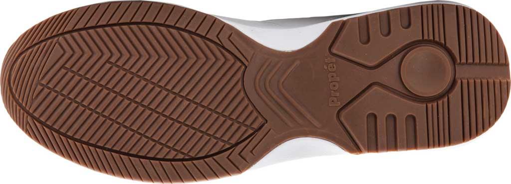 Men's Propet Walker Sneaker, White Leather, large, image 6