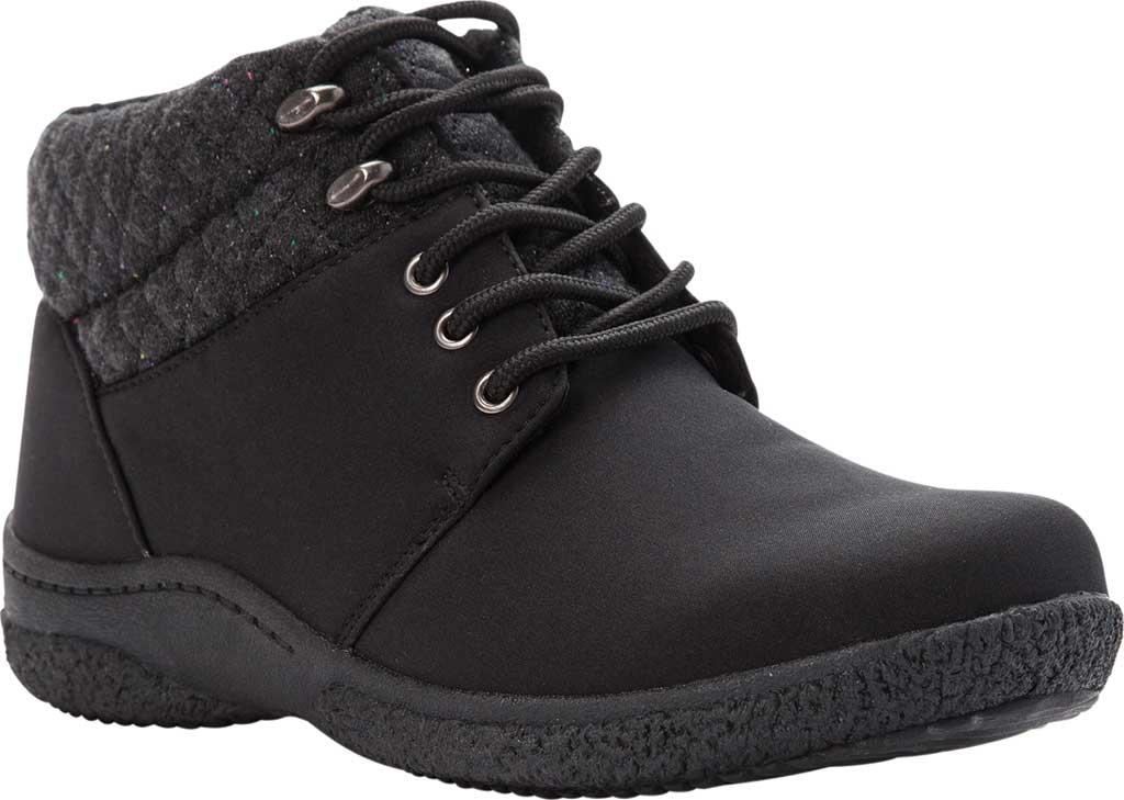 Women's Propet Madi Ankle Lace Up Boot, Black Nylon, large, image 1